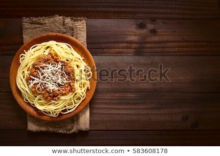 Spaghetti and ragu alla Bolognese Stock photo © Digifoodstock