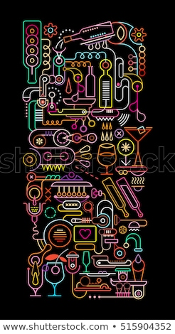 Neon colored pipes Stock photo © bluering