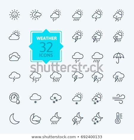Meteo · previsione · pulsanti · illustrazione · bianco · sfondo - foto d'archivio © bluering