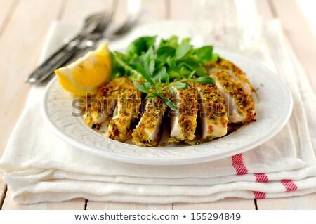 鶏の胸肉 サラダ 菜 カキ キノコ 食品 ストックフォト © Digifoodstock