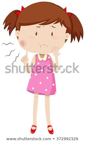 garganta · inflamada · ilustração · médico · lousa - foto stock © bluering