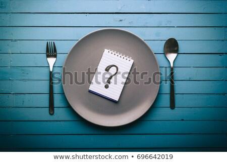 Notepad plaque blanche affaires école espace Photo stock © fuzzbones0