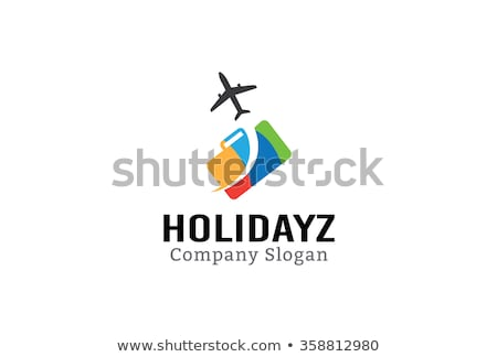 airport luggage travel icon sign logotype stock photo © vector1st