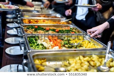 食品 ビュッフェ レストランの食べ物 レストラン パーティ 表 ストックフォト © zurijeta