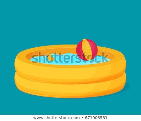 Inflable piscina diseno vector vacaciones de verano juegos Foto stock © robuart