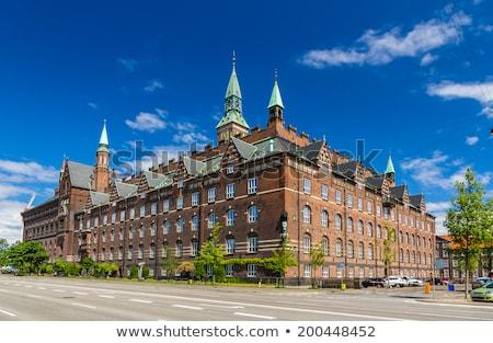Copenhague cidade ouvir Dinamarca casa azul Foto stock © vladacanon