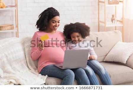 ショッピング · 妊婦 · 少女 · 妊娠 · 都市 - ストックフォト © bluering