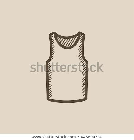 Male singlet sketch icon. Stock photo © RAStudio
