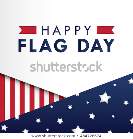 USA Flag day badge, banners and ribbons Stock photo © day908