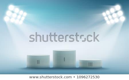 sport winner podium pedestal stock vector illustration Stock photo © konturvid