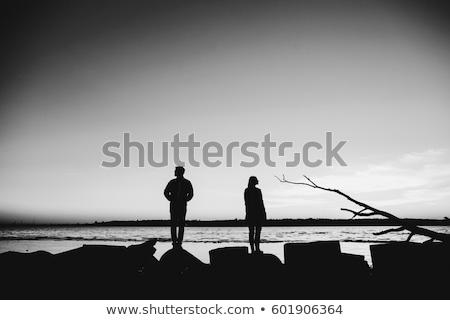 yaşlı · çift · adam · kot · iç · bakmak - stok fotoğraf © ambro