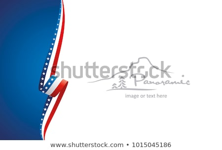 Red white blue american flag, ribbon and banner Stock photo © day908