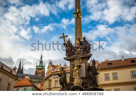 holy trinity column at lesser town square malostranske namesti stock photo © kirill_m