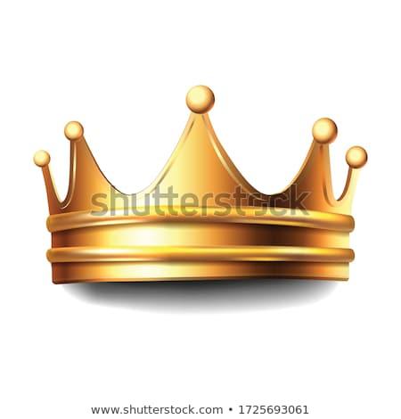 Oro corona aislado blanco diseno fondo Foto stock © fresh_5265954
