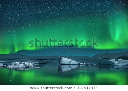 Icebergs under the Milky way. Stock photo © maxmitzu