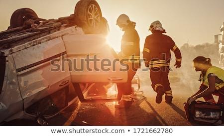 Yol hasar trafik kaza grup yollar Stok fotoğraf © Lightsource