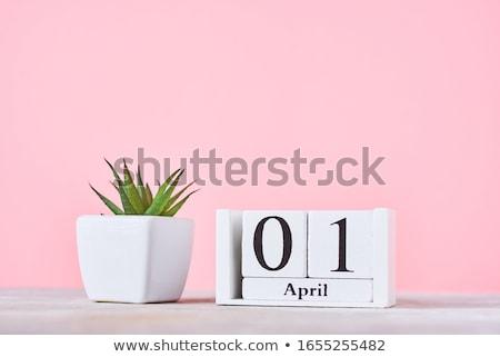 первый · календаря · 3d · визуализации · красный · белый · числа - Сток-фото © oakozhan