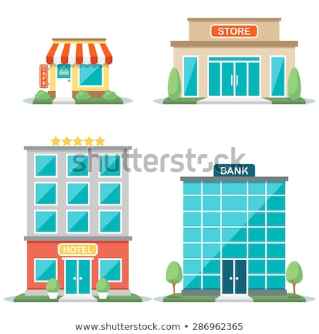 различный · зданий · иллюстрация · здании · дизайна - Сток-фото © bluering