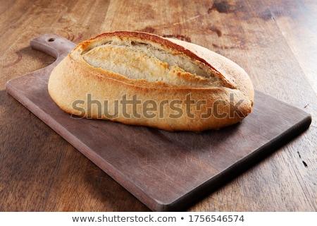 先頭 · 表示 · ピース · パン · まな板 · ナイフ - ストックフォト © artjazz