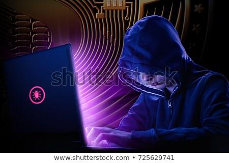 preso · computador · algemas · criminal - foto stock © stevanovicigor
