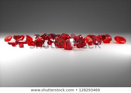 Robijn kostbaar steen Rood 3D afbeelding Stockfoto © AlexMas