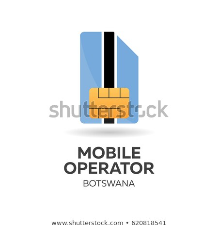 Stock photo: Botswana mobile operator. SIM card with flag. Vector illustration.