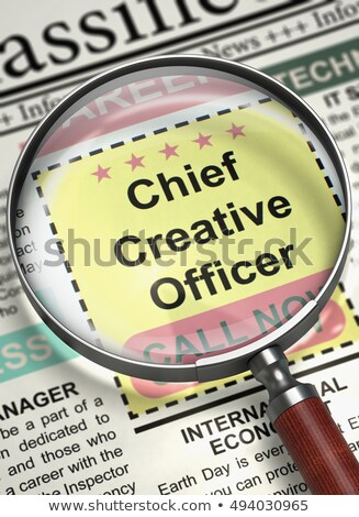 chief marketing officer job vacancy 3d rendering stock photo © tashatuvango