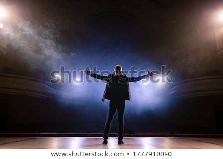 Portrait of actor standing on the stage Stock photo © wavebreak_media