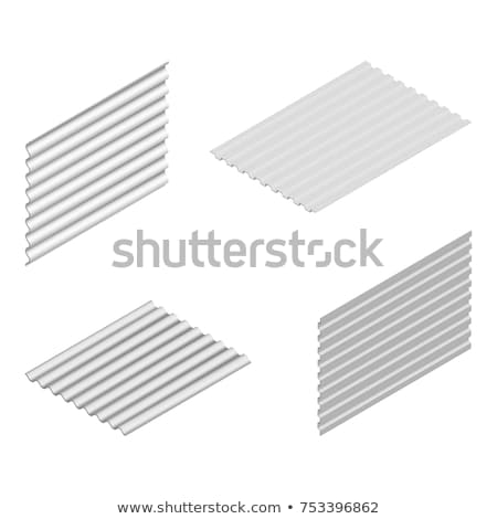 Sheet of wave slate and steel profile in isometric, vector illustration. Stock photo © kup1984