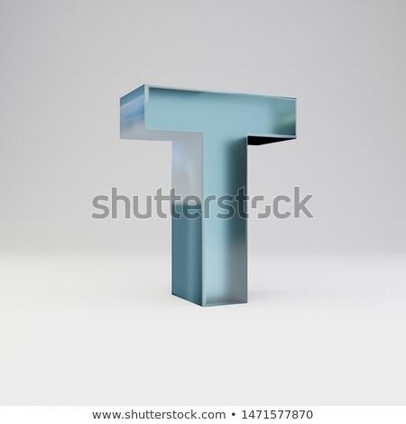 ice font letter t 3d stock photo © djmilic