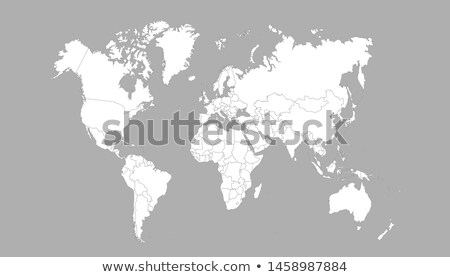 planeta · olho · isolado · branco · olhos · mapa - foto stock © ixstudio