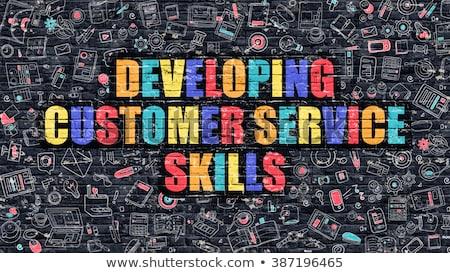 Em desenvolvimento atendimento ao cliente habilidades negócio balão de fala Foto stock © tashatuvango