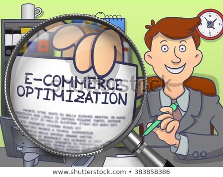 электронной коммерции оптимизация старой бумаги синий вертикальный Сток-фото © tashatuvango