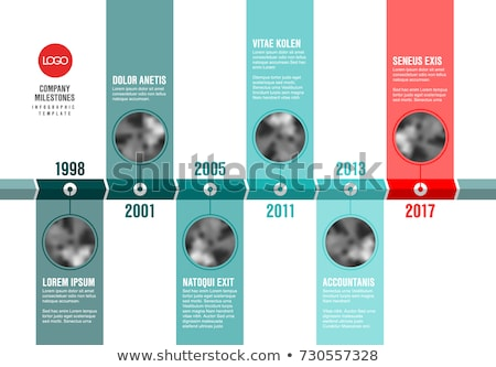 Vector teal and red  Infographic Company Timeline Template Stock photo © orson