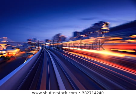 Stockfoto: Train Moves From City