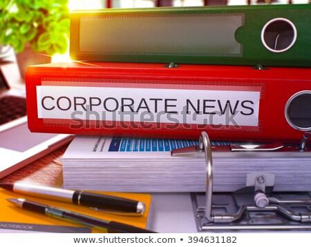 Rood ring opschrift corporate nieuws werken Stockfoto © tashatuvango