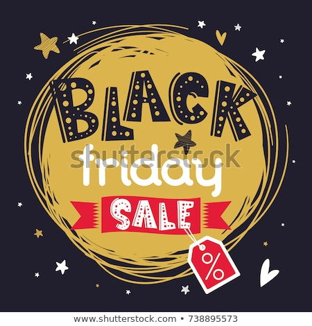 Black friday cerc steag vânzare text Imagine de stoc © marinini