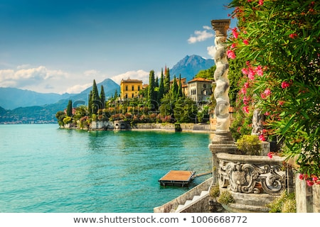 озеро Италия архитектура лодка город побережье Сток-фото © unique2109