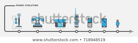 telefon · evolúció · gyűjtemény · telefonok · izolált · fehér - stock fotó © psychoshadow
