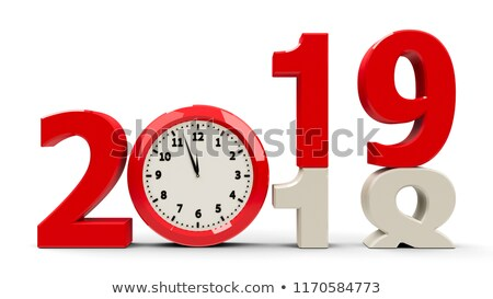 Clock dial 2018, half Stock photo © Oakozhan