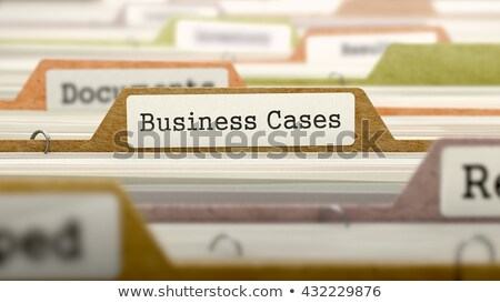 Business map naam gekleurd wazig afbeelding Stockfoto © tashatuvango