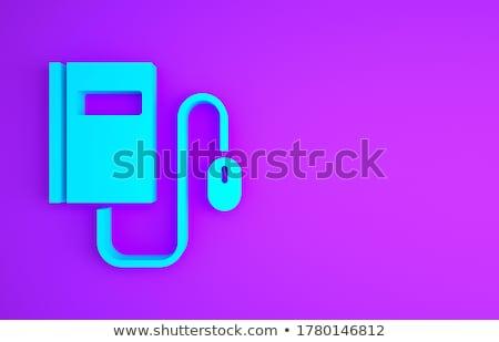 Tanul szöveg kék kurzor 3D felirat Stock fotó © tashatuvango
