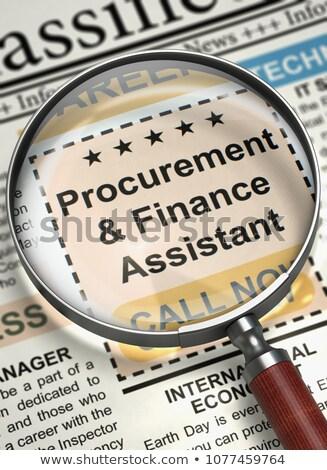 Stock photo: Procurement and Finance Assistant Job Vacancy.