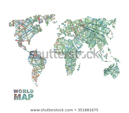 World map colored lines. Global Internet networkconnects  matter Stock photo © popaukropa