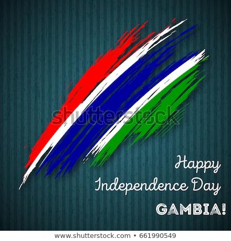Pennant with flag of gambia Stock photo © MikhailMishchenko