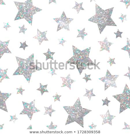 ホログラフィック 星 黒 背景 ストックフォト © blackmoon979