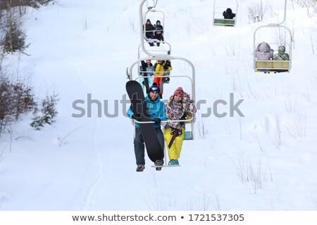 пару лыжных курорта веб страница шаблон Сток-фото © RAStudio