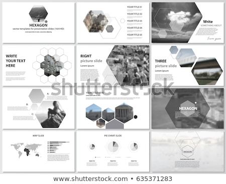 Vector Minimalist Infographic report template with hexagons Stock photo © orson