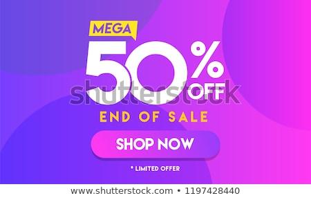 50% off discount offer poster vector illustration Stock photo © studioworkstock