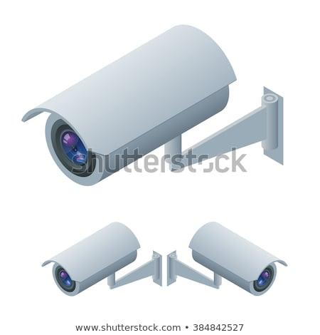 наблюдение камеры изометрический 3D икона безопасности Сток-фото © studioworkstock